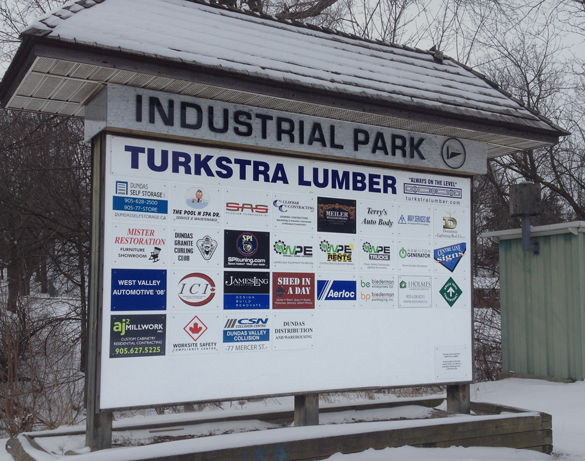 Dundas Industrial Park Sign