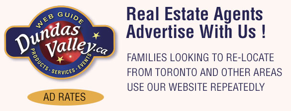 Dundas Valley Real Estate Ad For Agents To Advertise With Link To Ad Rate Card