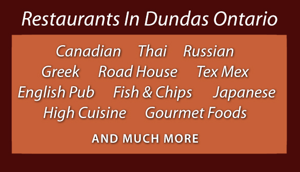 Dundas Ontario Restaurants Graphic